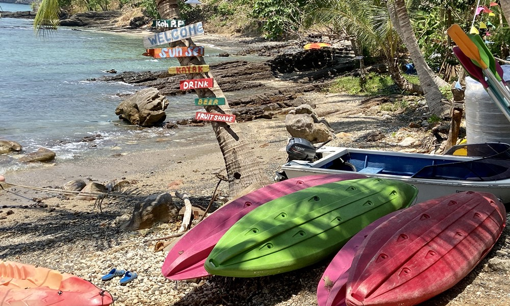 kayaking at the beach on a phi phi island overnight stay