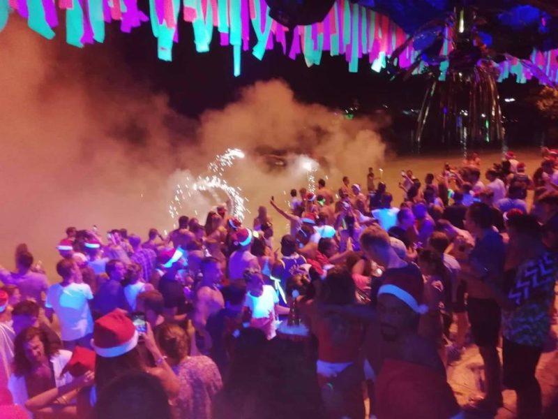 phi phi island nightlife Apache beach bar