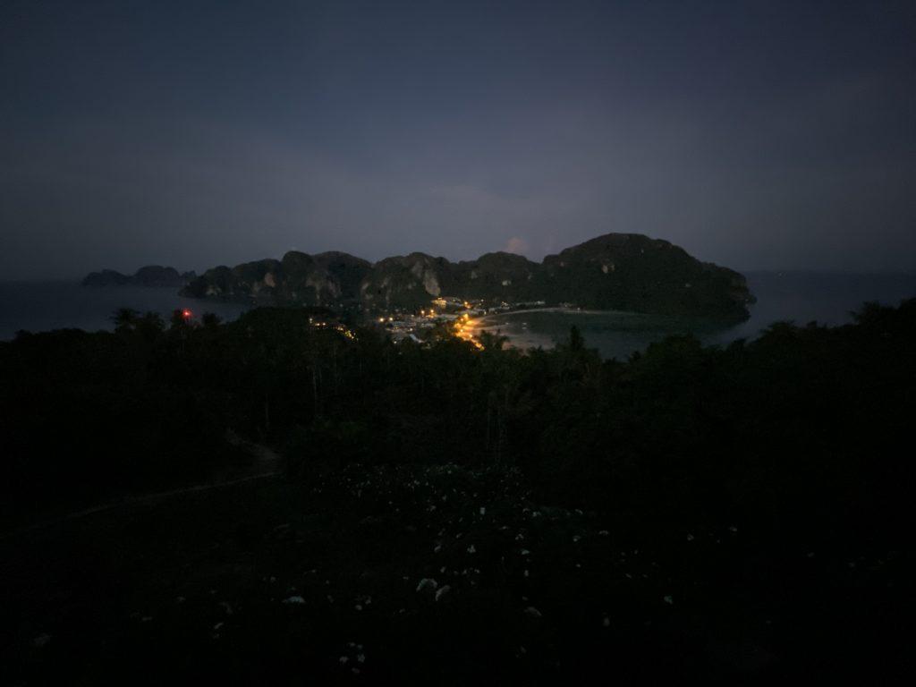 sunrise at phi phi viewpoint