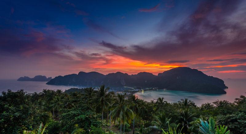 phi phi viewpoint, phi phi sunset, sunset at phi phi viewpoint