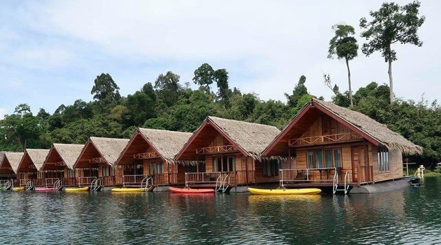 things to do in thailand floating bungalows khao sok lake Cheow Lan Lake-min