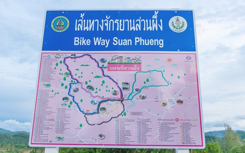 Cycle route map in suan phueng