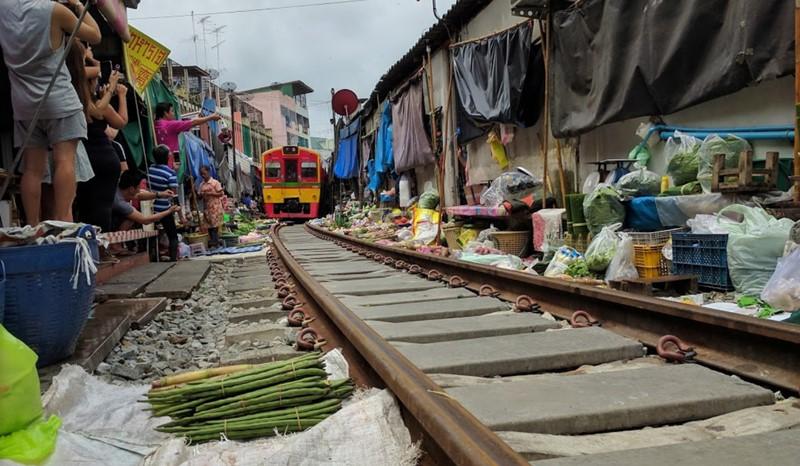 Thailand train market and Damnoen Saduak Floating Market