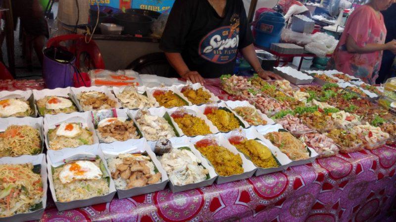 food stall at krabi wlaking street night market