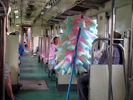 getting to maeklong Thailand train railway market