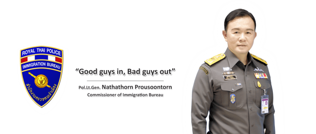 good guys in bad guys out thailand immigration tourist visa overstay slogan