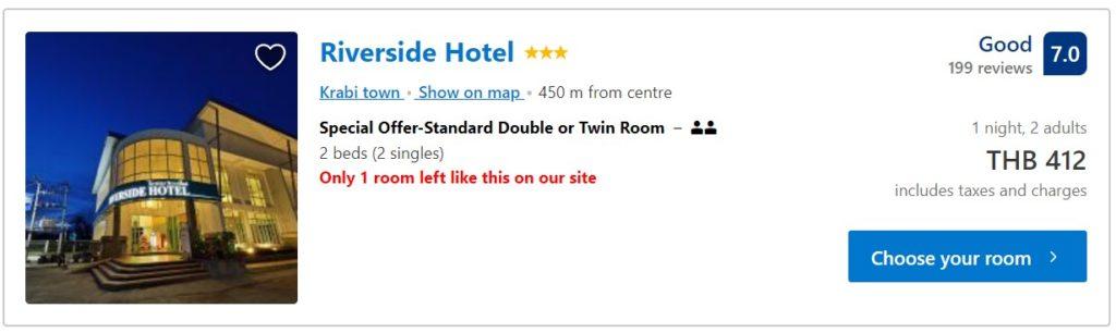 krabi night market hotel booking