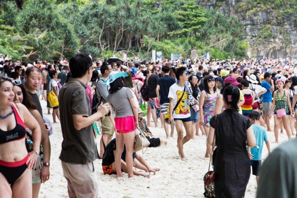 maya bay mass tourism an maya bay