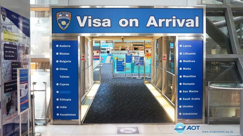 visa on arival thai airport