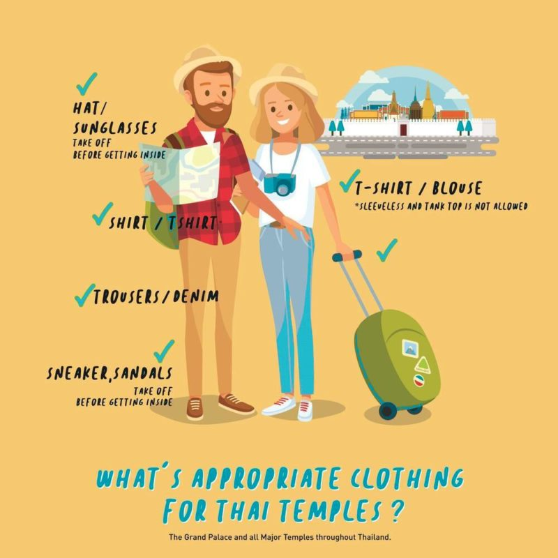 what to wear to a thai temple infographic