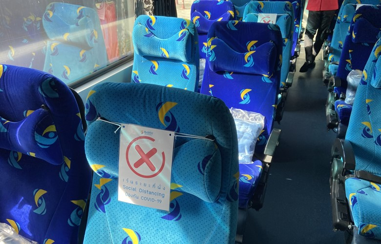 do i need to wear a facemask on public transport overnigh bus in thailand