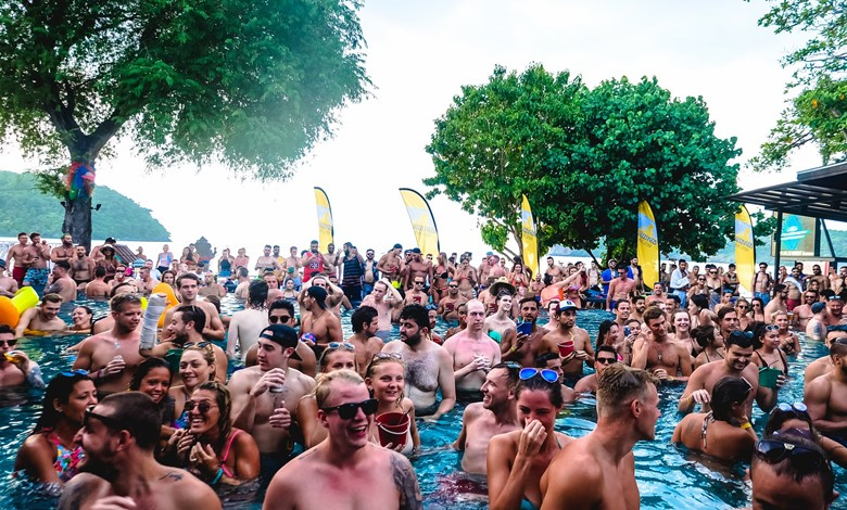 pool party review of the ibiza house phi phi island