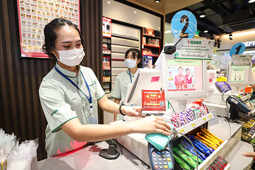 wearing a facemask in shops and convenience stores in thailand