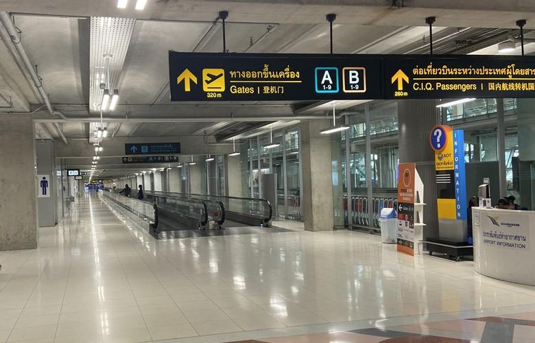 bangkok airport flying during coronavirus empty airport