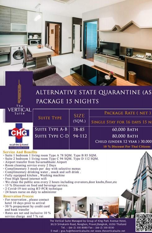 tourist quarentine hotels in thailand coronavirus covid