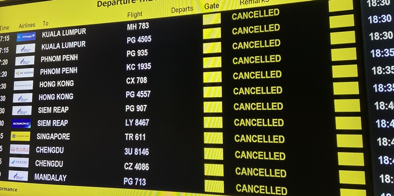 flights to bali canceled flight flights to bali during coronavirus cancelled flight board in airport flight to indonesia in 2020
